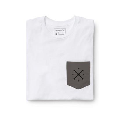 Camiseta Reserva Malha Variada Bolso Grafite Masculina - Masculino