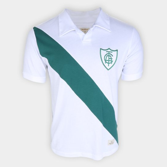 Camiseta Retrô América Mineiro 1913 Masculina - Branco