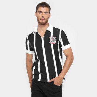 Camiseta Retrô Corinthians Réplica 1954 Masculina