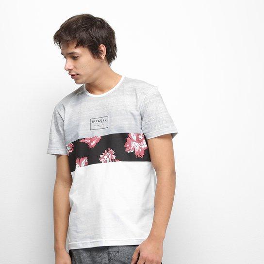 Camiseta Rip Curl Flower Cut Masculina - Branco