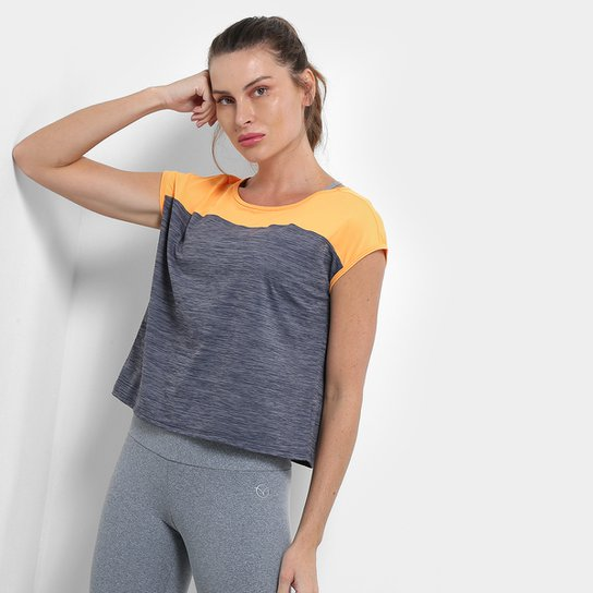 Camiseta Rivanna Manga Leg. Feminina - Mescla