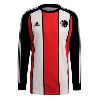 Camiseta River Plate Icon Adidas Manga Longa Masculina