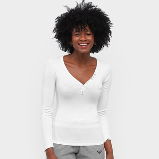 Camiseta Roxy You Like Manga Longa Feminina