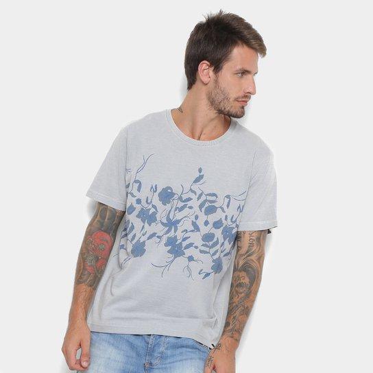 Camiseta Rusty Esp Log Cabins Masculina - Cinza