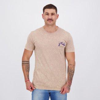 Camiseta Rusty Splatter Bege Mescla