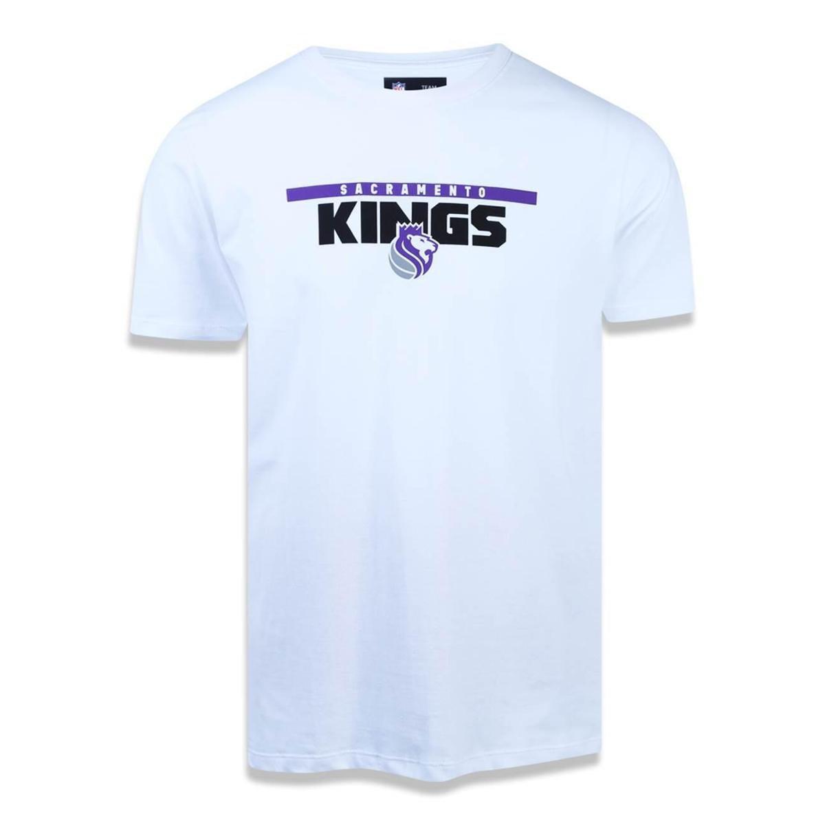 5efa0d0c8596e Camiseta Sacramento Kings NBA New Era Masculina - Branco - Compre Agora