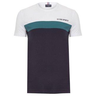 Camiseta Saison 2 Tee N.1 Azul Branca e Verde - Le Coq Sportif