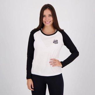 Camiseta Santos Feminina Manga Longa
