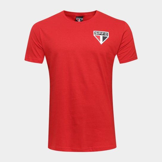 Camiseta São Paulo Basic Tricolor Masculina - Vermelho