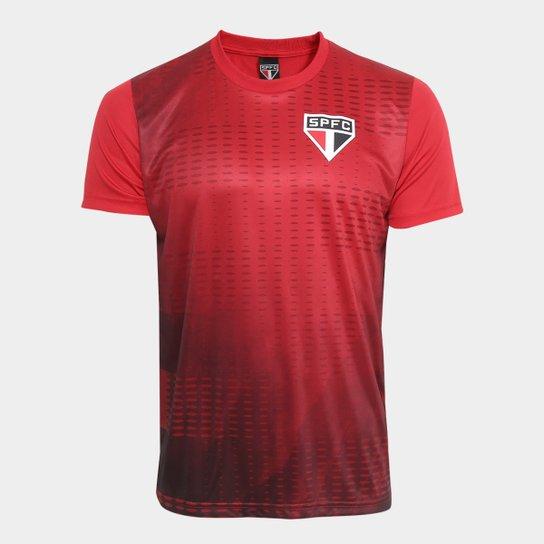Camiseta São Paulo Bleed Color Masculina - Vermelho