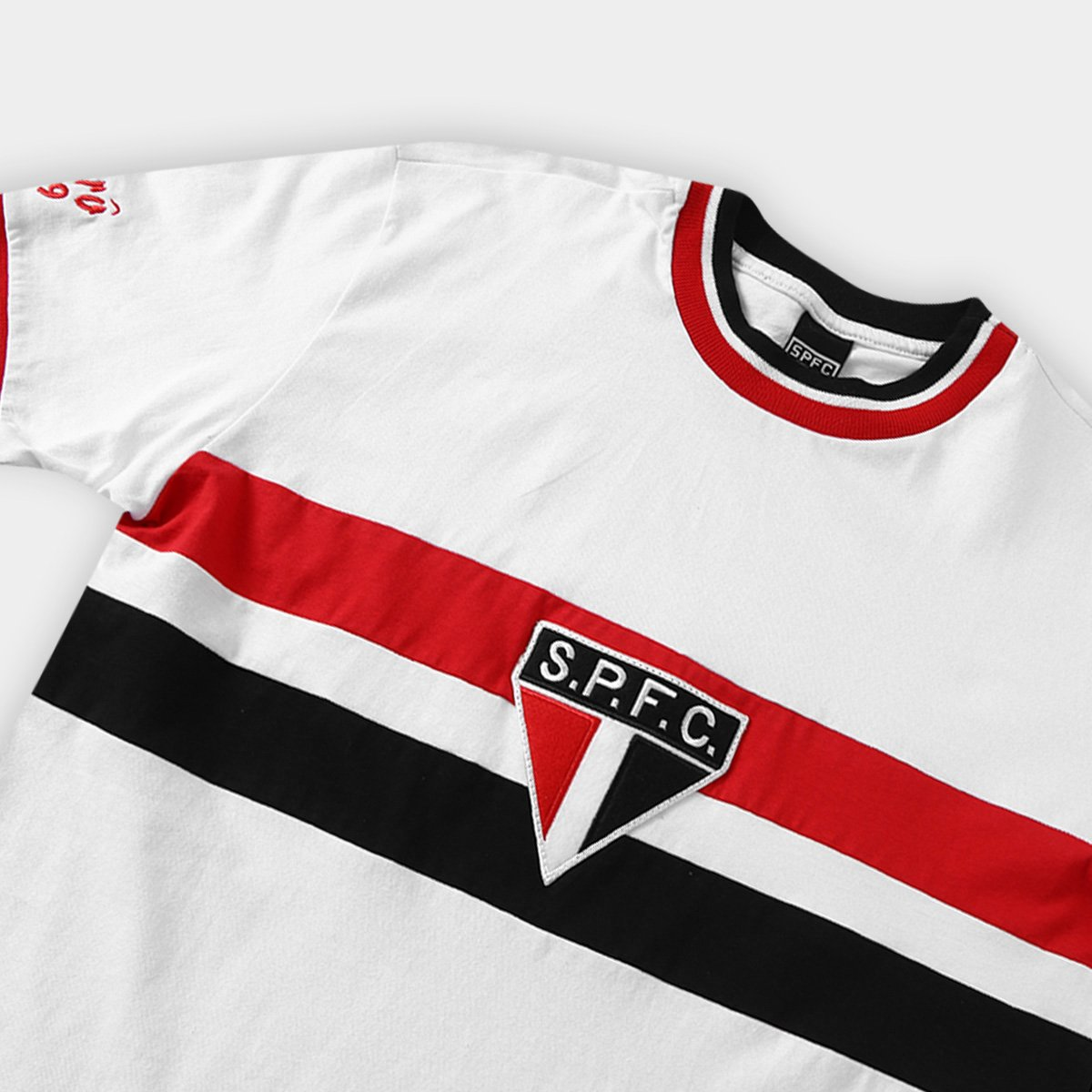 7ac04a17fb Camiseta São Paulo Réplica Retrô 1969 Masculina - Branco - Compre ...