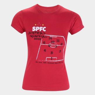 Camiseta São Paulo Tático Retrô Mania Feminina