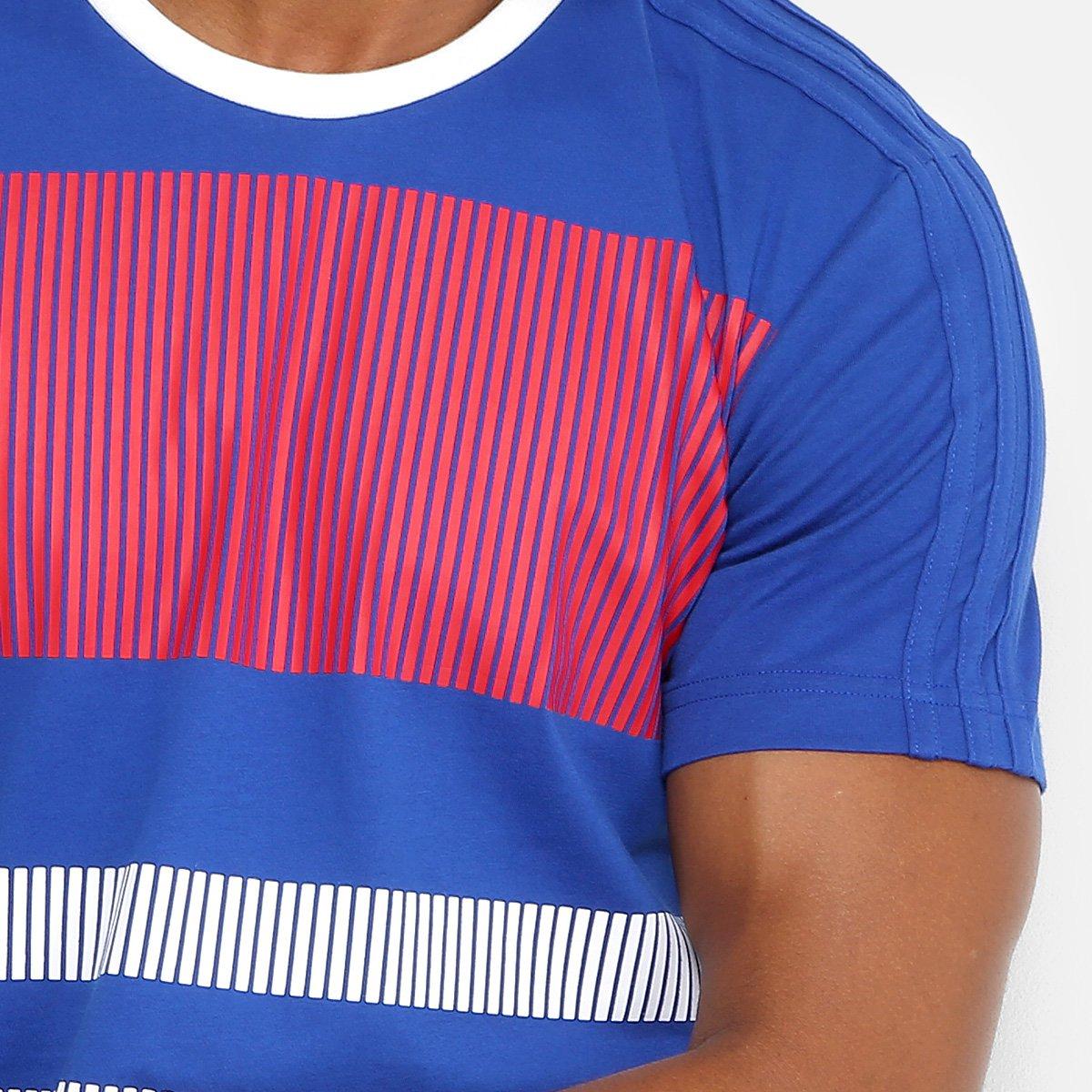 Camiseta Seleção França Adidas CI Masculina - Azul e Branco - Compre ... f2183ab476fe3