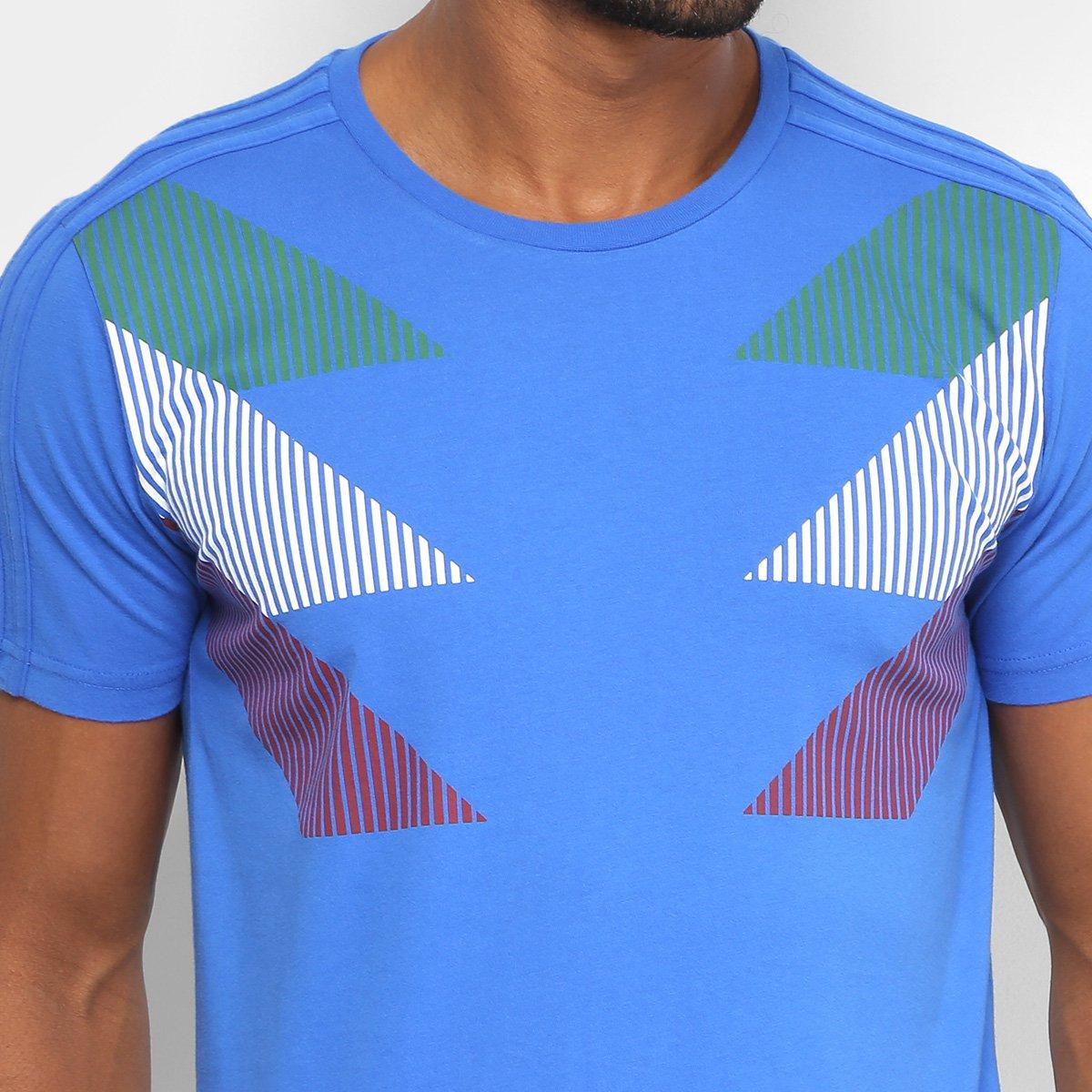 Camiseta Seleção Itália CI Adidas Masculina - Azul - Compre Agora ... a2204ef059536