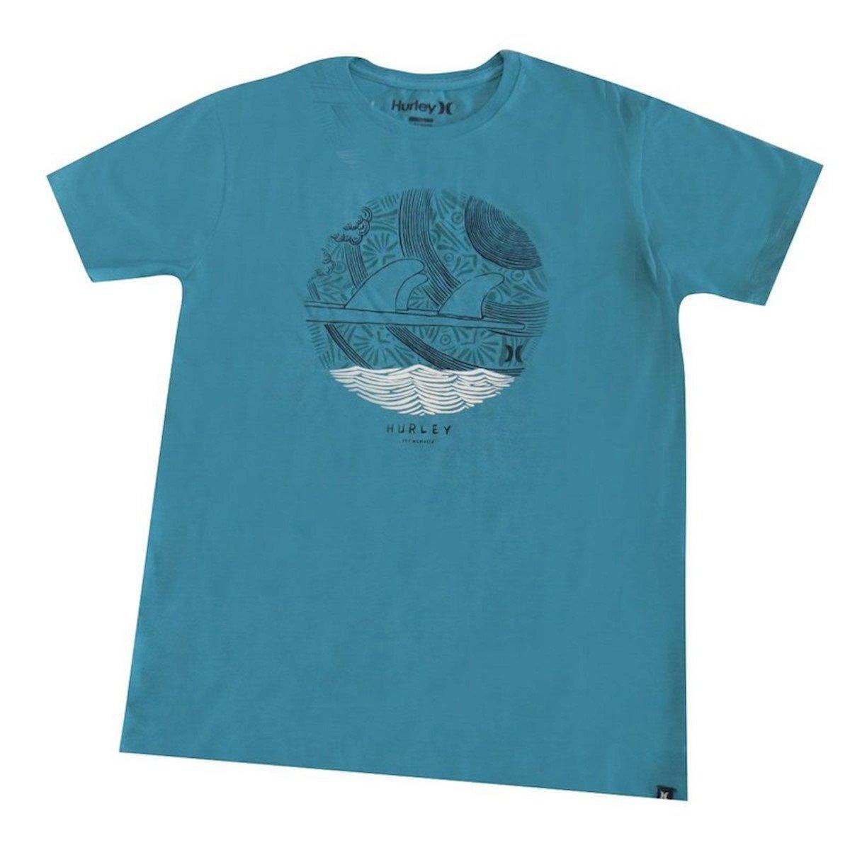 Camiseta Silk Finset Azul Hurley Juvenil Silk Camiseta rUdwrR