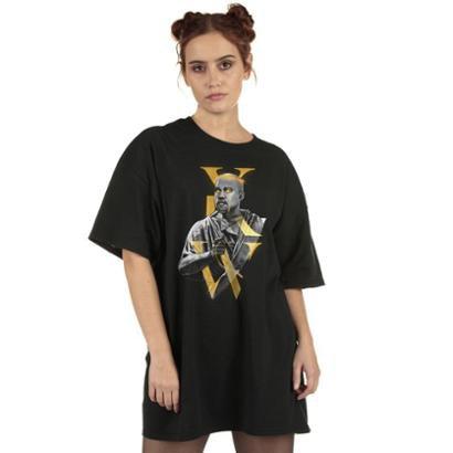 Camiseta Skull Clothing Kanye West Redemption Feminina