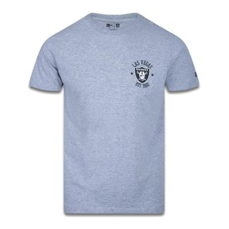 CAMISETA SLIM NFL LAS VEGAS RAIDERS COLLEGE LOGO CITY MESCLA CINZA NEW ERA