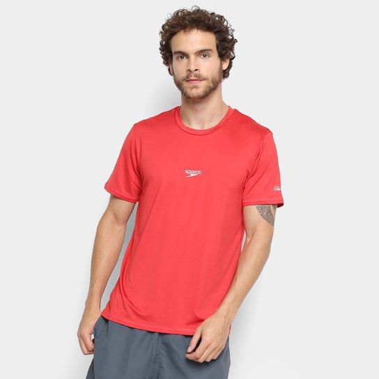 Camiseta Speedo Basic Stretch Masculina - Coral
