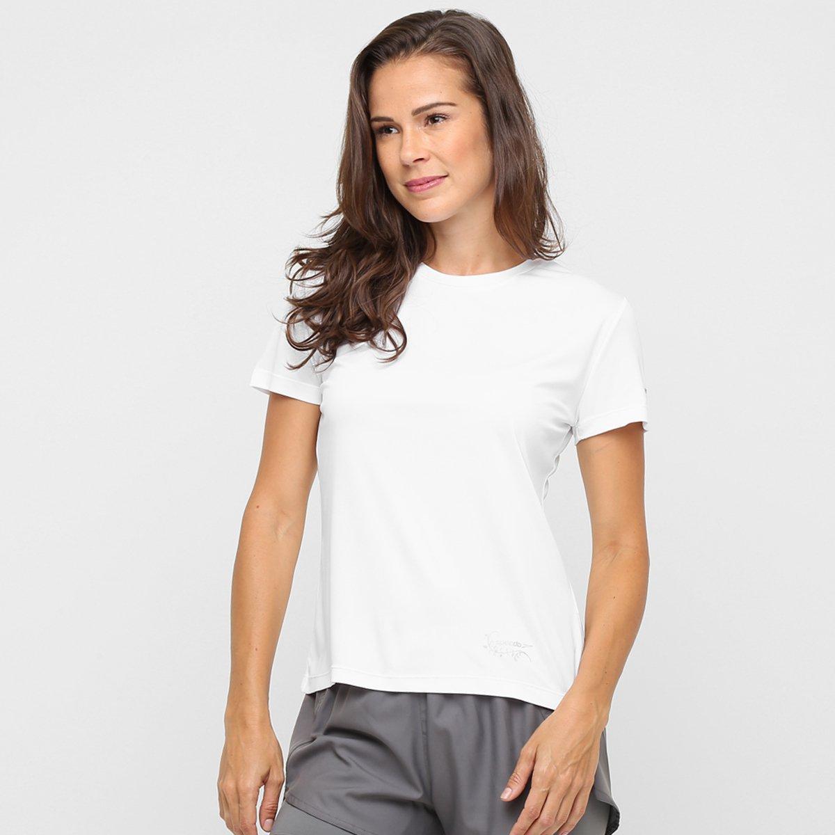 Camiseta Branco UV Com Camiseta Speedo Interlock Proteção Feminina Interlock Speedo 1cWZaOpp6