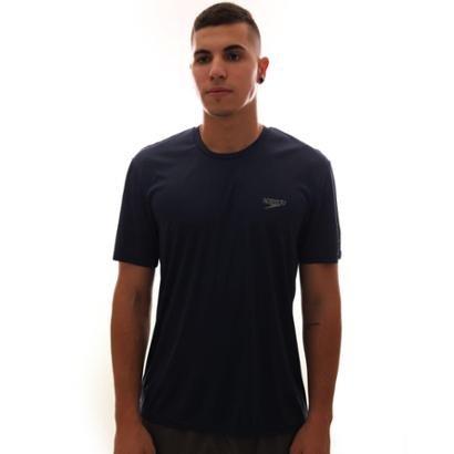 Camiseta Speedo Interlock UV50 Masculina Marinho - Masculino