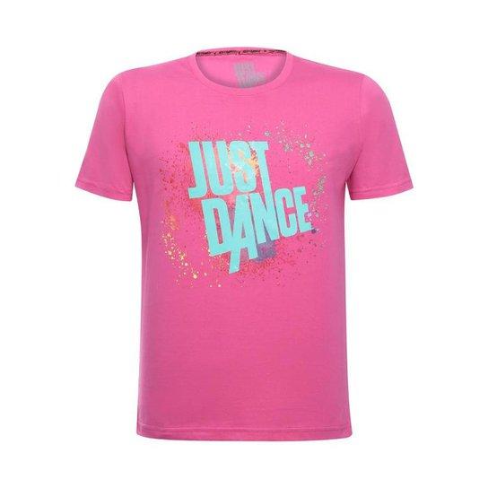 Camiseta Splash Unissex Just Dance Ubisoft - Rosa