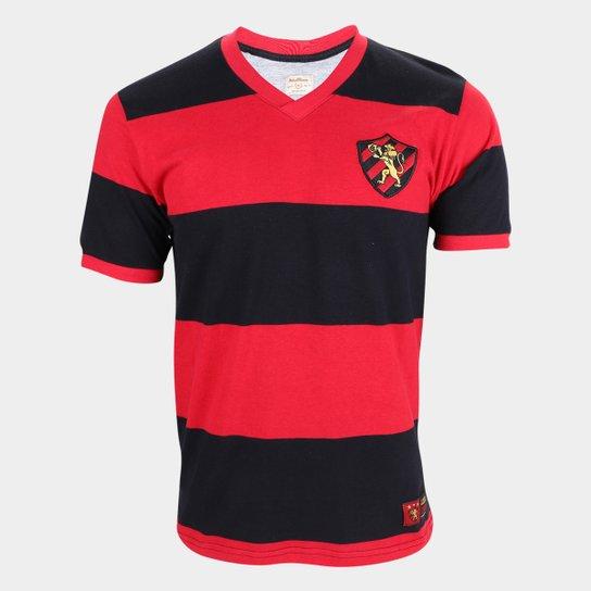 Camiseta Sport Recife Retro Mania 1987 Masculina - Vermelho+Preto