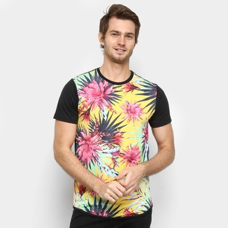 Camiseta Squadrow Long Flores Masculina