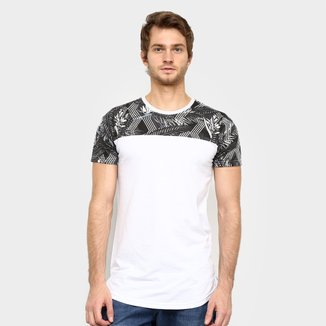 Camiseta Squadrow Long Line Estampada Masculina