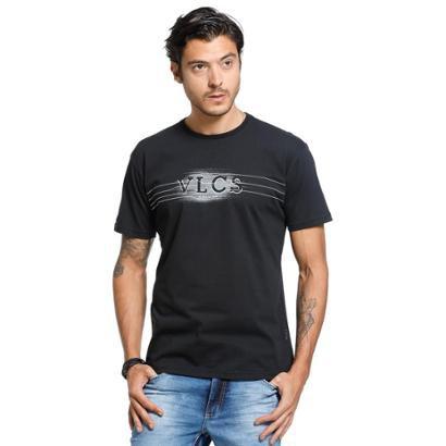 Camiseta Standard VLCS Logotipia Malha Penteada Masculina