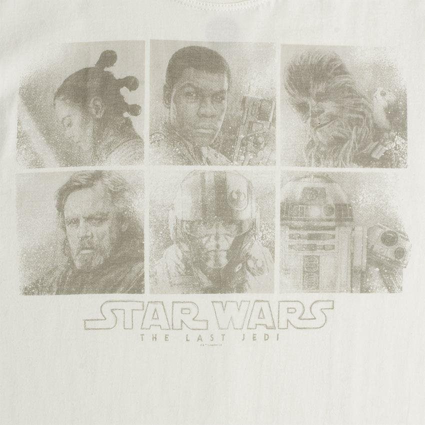 Camiseta Wars Star Faces Episodio VIII Star Wars Camiseta Bege 5anpPn