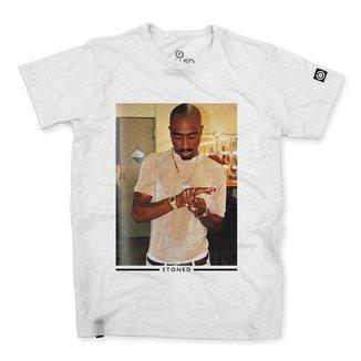 Camiseta Stoned Tupac Shakur Masculina