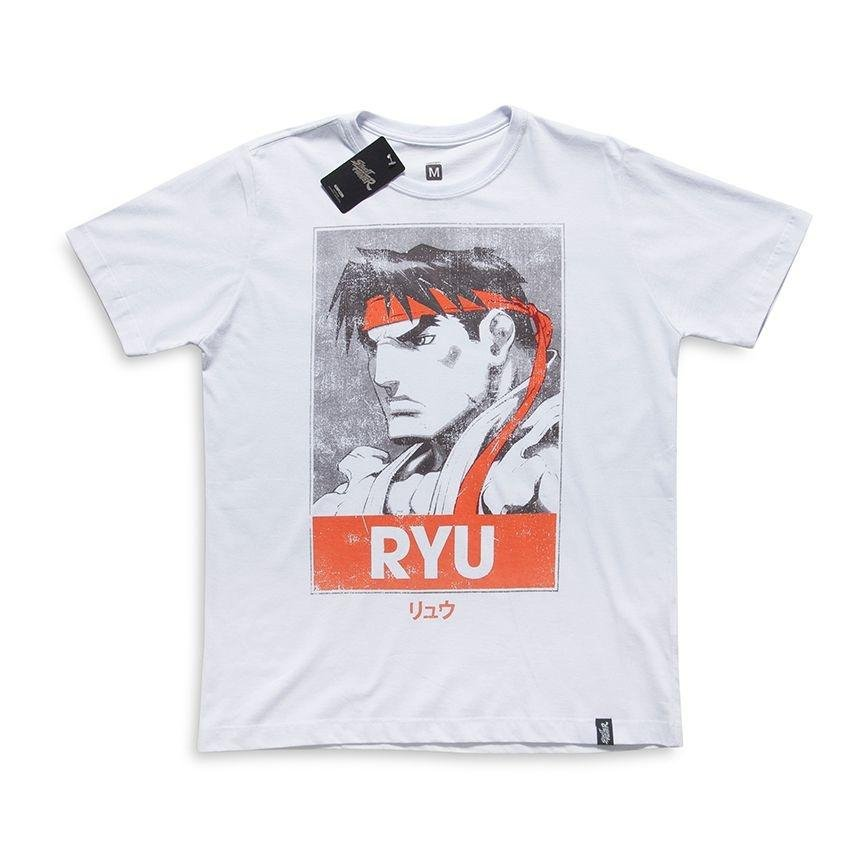 0db34bb11495b Camiseta Street Fighter Ryu Poster - Compre Agora