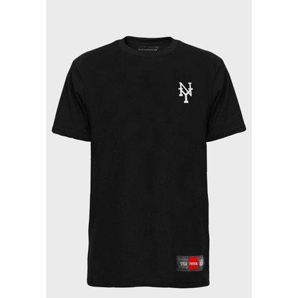 Camiseta Streetwear NY Atoms White prison