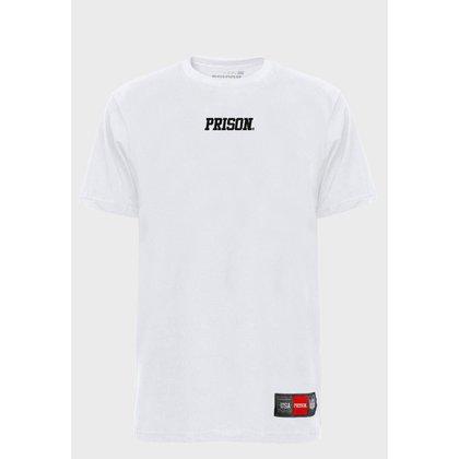 Camiseta Streetwear White Prison Logo
