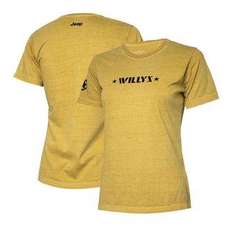Camiseta Super Premium Fem. JEEP Willys Estonada - Areia