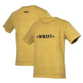 Camiseta Super Premium Inf. JEEP Willys Estonada - Areia