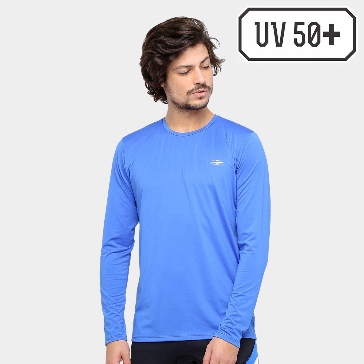 e184c1dfbbcc1 Camiseta Surf Mormaii Proteção UV 50+ Dry Action Masculina - Azul - Compre  Agora
