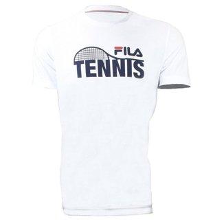Camiseta Tennis Racket Branca - Fila