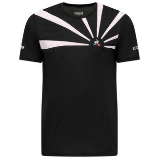 Camiseta Tennis Tee SS 20 N2M Preto - Le Coq Sportif