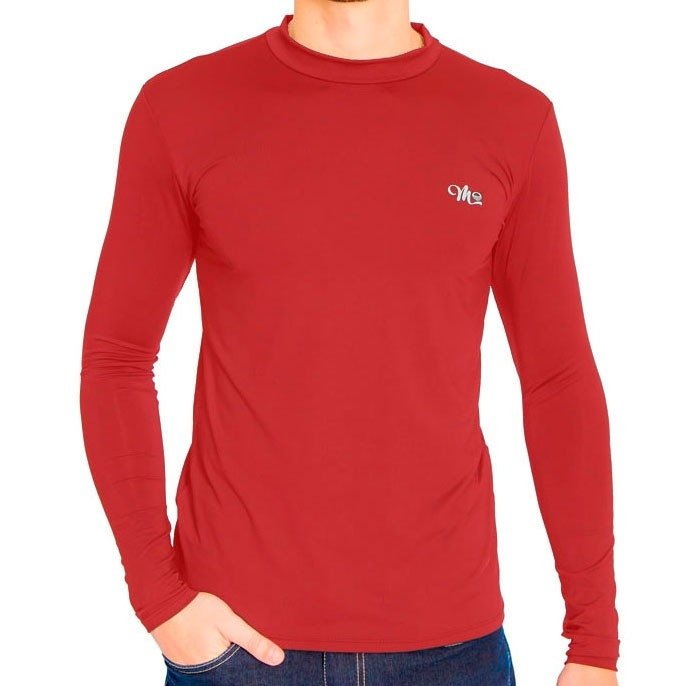 Camiseta Camiseta Vermelho Manga Masculina Térmica Térmica Longa qzqO0B