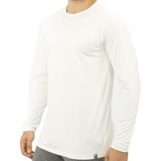 Camiseta Térmica Masculina Gola Redonda Manga Longa Fitness