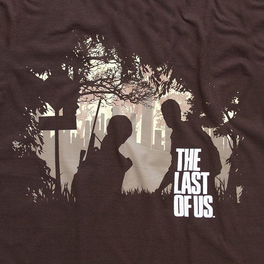 Marrom The Last of Sombras Us The Last Camiseta Camiseta zgxqTwzvH