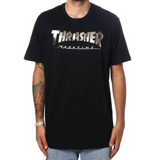 Camiseta Thrasher Especial Gold Foil Magazine Original Masculina