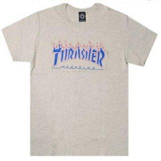 Camiseta Thrasher Grey Flame Masculina