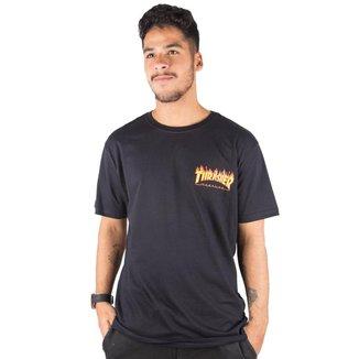 Camiseta Thrasher Magazine Flame Bottom Masculina