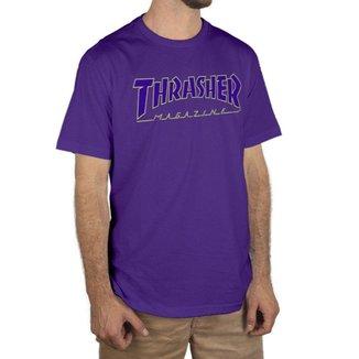 Camiseta Thrasher Magazine Logo Outlined