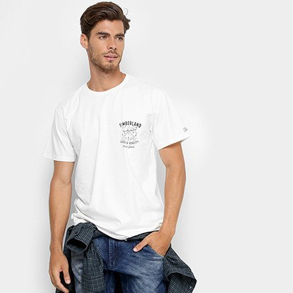 Camiseta Timberland Kennebec River Graphic Lived-In Masculina