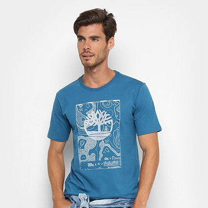 Camiseta Timberland Logo Maps Masculina