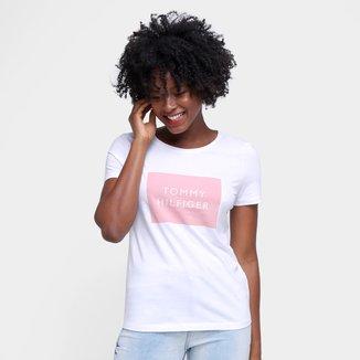 Camiseta Tommy Hilfiger Estampada Feminina