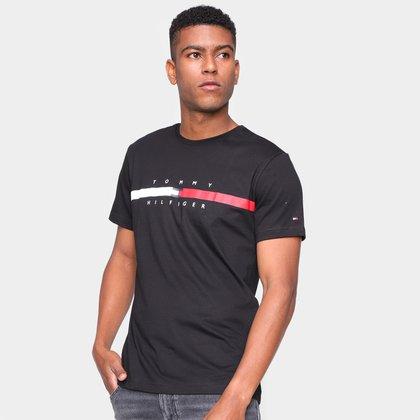 Camiseta Tommy Hilfiger Estampada Masculina